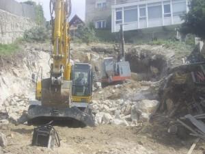 Trabajos en hueco para cimentación